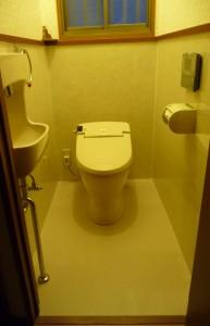 トイレ完成