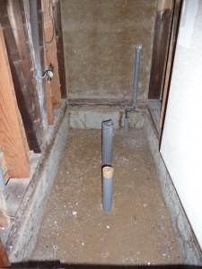 トイレの改修撤去後