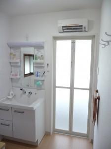 暖かい脱衣室